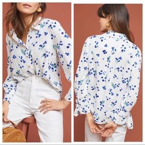 Anthropologie {Maeve} Blueberry Blithe Button-Down
